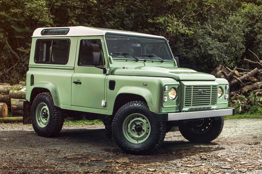 Land Rover Defender 90 Station Wagon Heritage Limited Edition (2015) Front Side