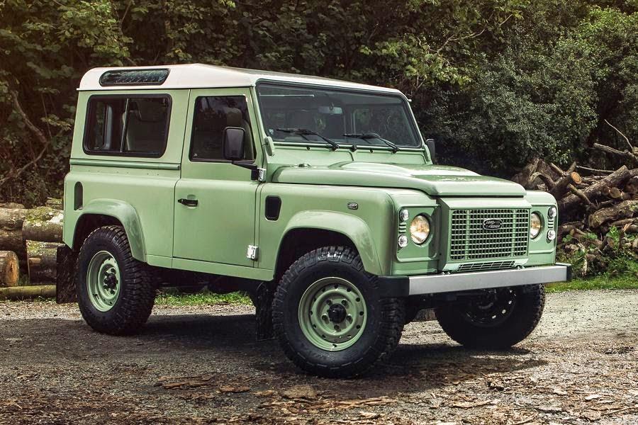 Land Rover Defender 90 Station Wagon Heritage Limited Edition (2015) Front Side